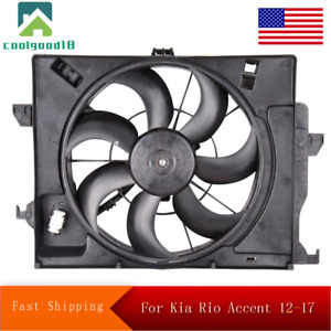 Radiator Cooling Fan Assembly For 12 18 Kia Rio 12 17 Hyundai Accent Hy3115136