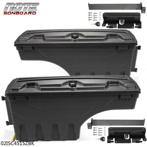 Truck Bed Storage Box Toolbox Rear Rh lh For 07 2018 Chevy Silverado Gmc Sierra