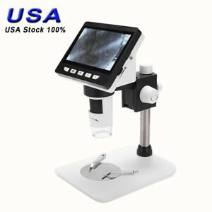 1000x 4 3 Hd Lcd Monitor Electronic Digital Video Microscope Led Magnifier Set