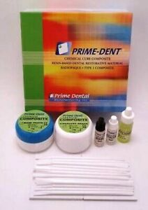 Prime Dent Chemical Self Cure Composite Kit 15gm15gm Bonding Super Fast Ship