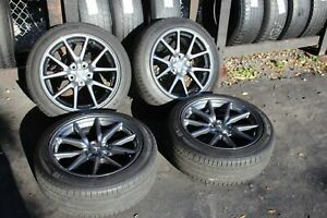 Set Of 4 Tesla Model 3 2017 2018 2019 18 Oem Aero Rims 235 45 18 Tires 96276