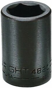 1 2 Drive Standard Impact Socket 6 Point Wright Tool