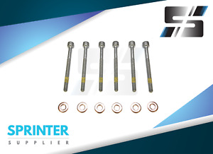 Sprinter Injector Screw Retainer Bolt Copper Washer O Ring Set Of 6 Mercedes
