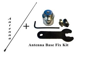 21 Stainless Black Antenna Mast Radio Antenna Base Repair Kit For Gmc Cadillac