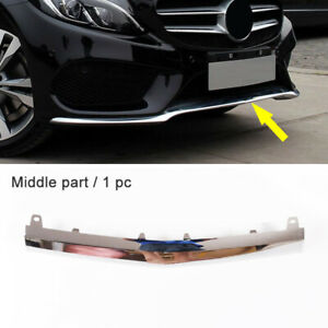 1pc Front Lip Central Chrome Cover Trim Fit For Mercedes W205 C63 Amg 2016 2018