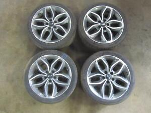 14 16 Kia Forte Wheel Rim Tire Set 18x7 Alloy Gray Inlay W Tpms Oem