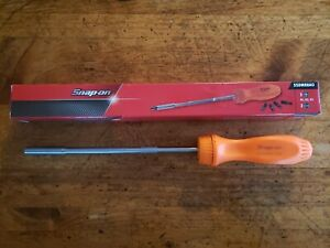 new Snap On Ssdmr8ao Orange Ratcheting Screwdriver With 5 Bits Free Shipping