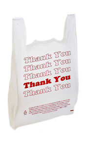 Large Plastic Thank You Bags t shirt Bags 18 x8 x30 Case Of 500