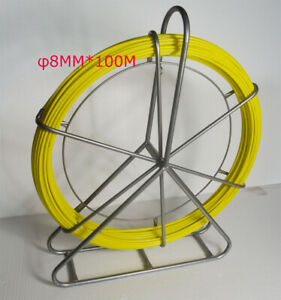Intbuying 8mm 100m Fish Tape Fiberglass Wire Cable Running Rod Duct Puller