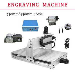 Cnc 6040z 4 Axis 3d Cutter Engraver Usb Router Engraving Drilling Machine