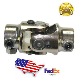 New Universal 3 4 36 Spline X 3 4 Dd Steering Shaft U Joint Chrome Street Rod