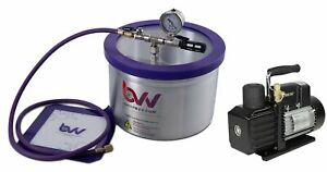 Bvv 2 Gallon Aluminum Vacuum Chamber Ve225 4 Cfm Two Stage Vacuum Pump Kit