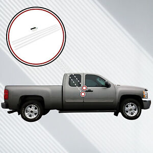 07 13 Fits Chevy Silverado Extended Cab Invisible Door Edge Guards Pre Cut Clear