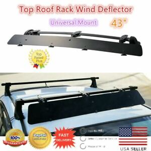 Universally Mount Fit Rooftop 43 Crossbar Wind Fairing Air Deflector Kit