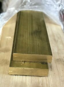 Brass Flat Bar Stock 1 8 x 2 x 10 Long C360 Mill Stock