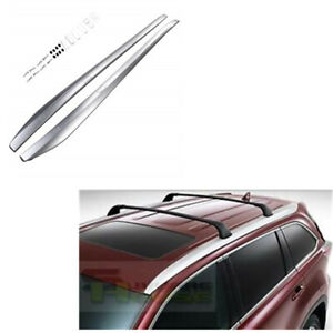 For 14 19 Toyota Highlander Le Oe Style Roof Rack Side Rail A Pair Set