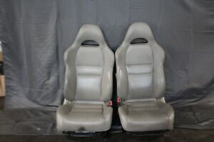 02 06 Acura Rsx Type S Front Bucket Tan Leather Manual Seats Oem