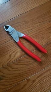 new 2019 Snap On 87acf 7 5 High Leverage Red Angled Diagonal Cutter Pliers