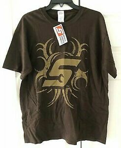 Snap On T Shirt Brown W Snap On Logo Size Xl Short Sleeve New W Tags Fre Ship
