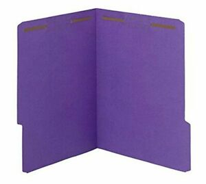 case Of 50 Smead Watershed cutless Fastener File Folder 2 Fasteners Reinforced