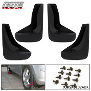 Universal Car Splash Guards Mud Flaps Mudguard Black Front Rear With Hardware