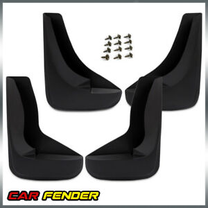 4 Pieces Universal Mud Flaps Splash Guards With Hardware Front Rear Combo Set
