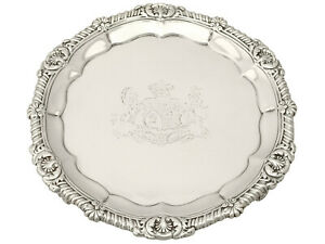 Antique Sterling Silver Salver By Paul Storr George Iv