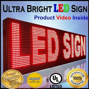 Outdoor Red Color 19 X 38 Programmable Digital Text Neon Open Led Sign Board