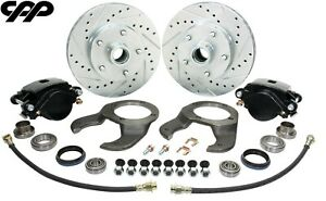 1937 48 Early Ford Stock Spindle Disc Brake Conversion Kit 5 X 4 5 Bolt Pattern