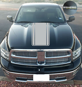 Hood Fader Decal Vinyl Rally Stripes Graphics Fits Dodge Ram 1500 2500 3500 5 7