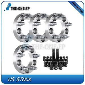 For Jeep Liberty 2012 1 Thick 5x4 5 1 2 Wheel Spacers 23pcs Lug Nuts 2 Keys
