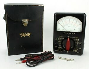Vintage Tool Multimeter Bakelite Model 630 With Case Usa 451