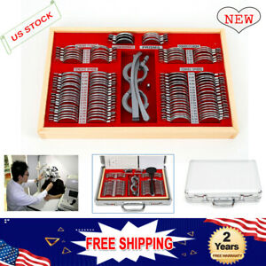 Trial Lens Set 104 Pcs Metal Rim Optometry Optical Instrument With Case