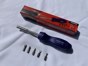 Snap On Limited Edition Purple Hard Handle Ratcheting Screwdriver Brand New