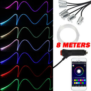 Interior Ambient Atmosphere Lights 6 Led 8 Meters Style Strip Bluetooth Control