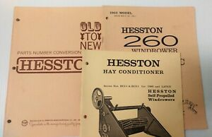 Hesston Hay Conditioner 260 Windrower Hydraulic Parts Conversion Manual 1960