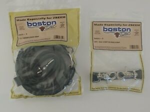 Boston Leather Bundle Firefighters 1 25 Radio Strap And Anti sway Strap New