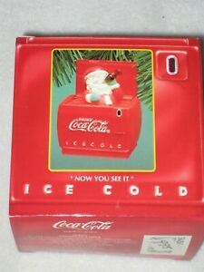 NOW YOU SEE IT NOW YOU DON'T SANTA DELIVERS COCA-COLA ENESCO ORNAMENT 1994