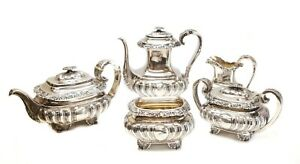 5pc Gorham Mfg Co Sterling Silver Tea Coffee Service Set Date Cypher 1894