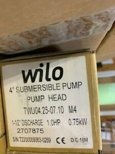 Wilo Submersible Pumpend 4 1hp 25gpm 2707875