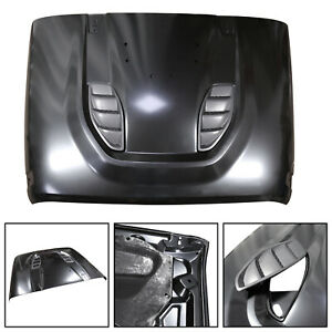 Front Rubicon 10th Anniversary Hard Rock Style Hood For Jeep Wrangler Jk 07 18 S