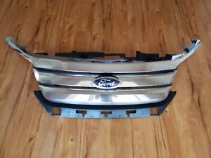 2010 2011 2012 Ford Fusion Grill Grille Chrome Complete Oem Assembly No Shipping