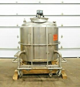 Mo 3284 Cherry Burrell Stainless Jacketed Mixing Tank 400 Gallon 316 Ss 1 Hp