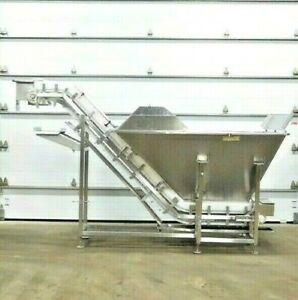 Mo 3290 Stainless Conveyor System With Hopper