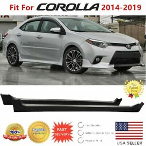 Fit For 2014 2019 Toyota Corolla Jdm Style Unpainted Black Side Body Skirts