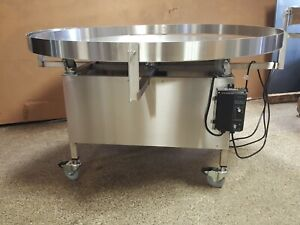 New 60 Round Feed Table With Casters Turntable Bottle Accumulation Table