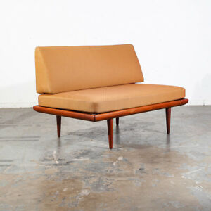 Mid Century Danish Modern Settee Sofa Peter Hvidt France Son Teak Daybed Nm