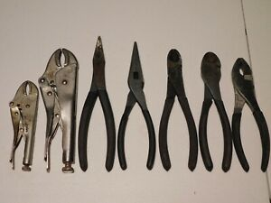 Craftsman Set 7 Pliers Slip Joint Vise Grip Locking Needle Nose Wire Cutters