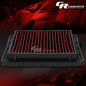 Red Washable High Flow Air Filter For 05 17 Subaru Legacy Outback Forester H4
