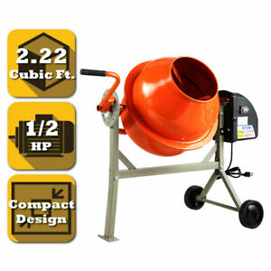 Portable Electric 2 22 Cubic Concrete Cement Mixer Barrow Machine Mixing Mortar